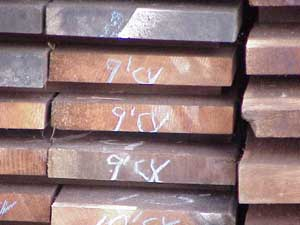 Graded redwood lumber